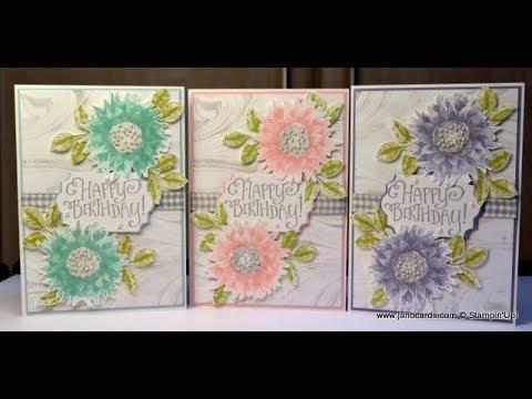 No 315 - Painted Harvest Birthday Card - JanB UK Stampin' Up! Demonstrator  Independent