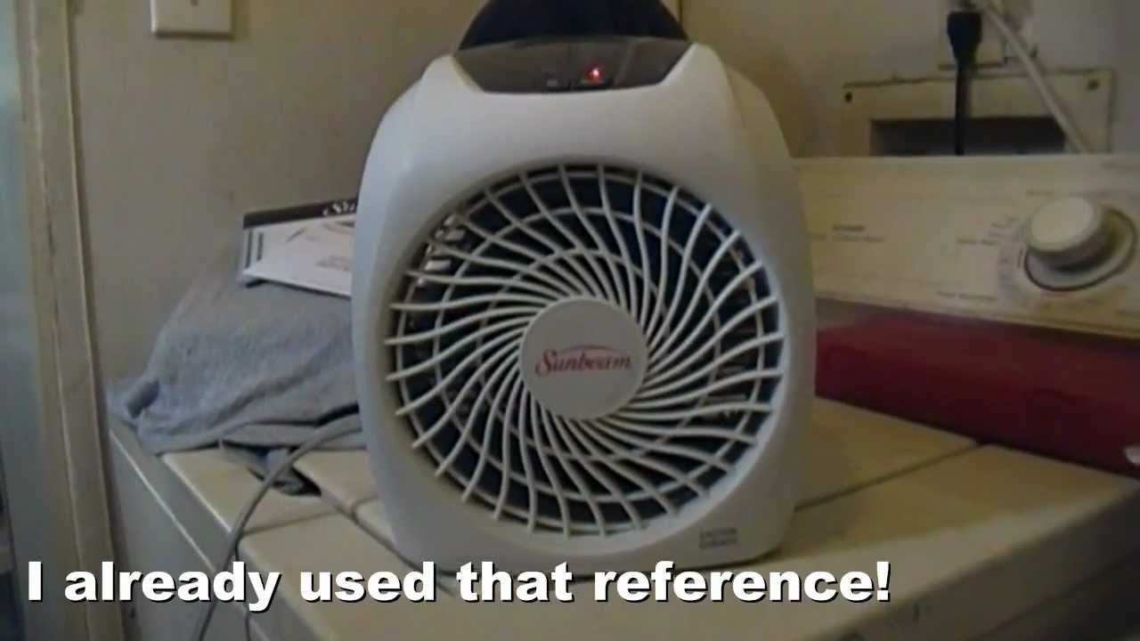 Sunbeam Heater Model Sfh457a Youtube