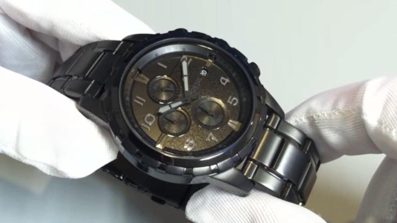 men s black fossil dean blackout chronograph watch fs4646 men s black fossil dean blackout chronograph watch fs4646