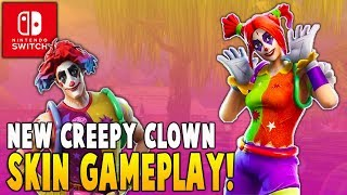 New Peekaboo Clown Skin Gameplay!! (Nintendo Switch) - Fortnite Battle Royale Gameplay