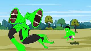 BLUE SPIDER HULK vs BLUE Siren Head: All Superheroes Transformations 2 | Godzilla-Superheroes Movies