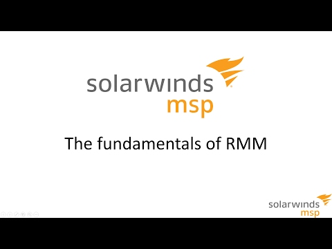 SolarWinds MSP: The Fundementals of RMM