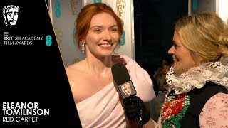 Eleanor Tomlinson on the Red Carpet | EE BAFTA Film Awards 2019