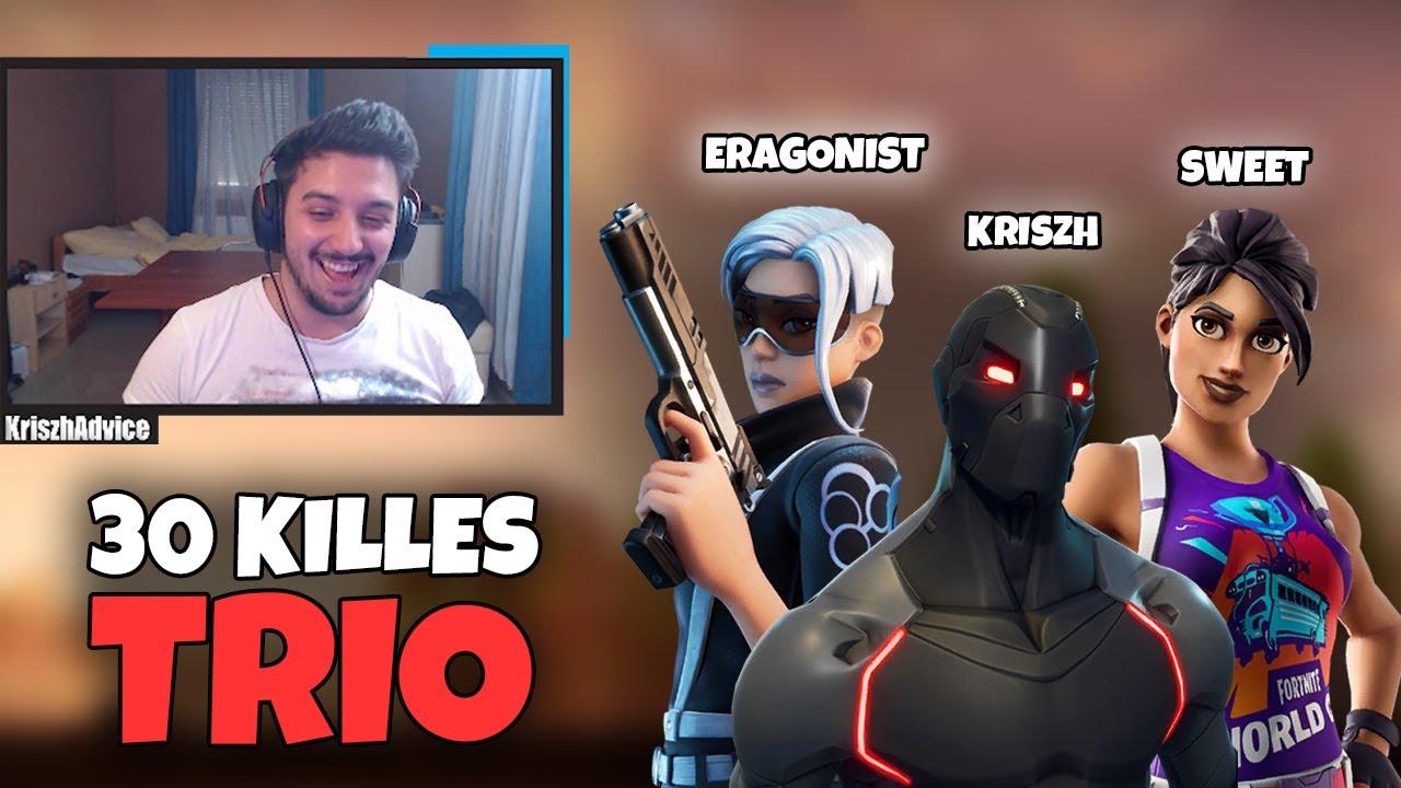 30 KILLES TRIO ft. Eragonist & sweet (Fortnite Battle Royale)