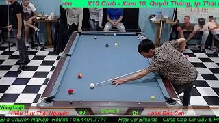 9 Ball Amateur : Hiếu Huy Thái Nguyên vs Luân Bắc Cạn - Giải Nghiệp Dư Thái Nguyên Open 8/2018