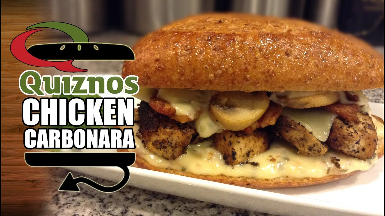 how to make quiznos chicken carbonara sauce