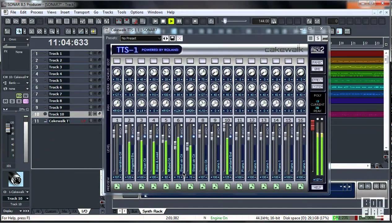 Cakewalk Sonar - MIDI fájl importálása és megszólaltatása