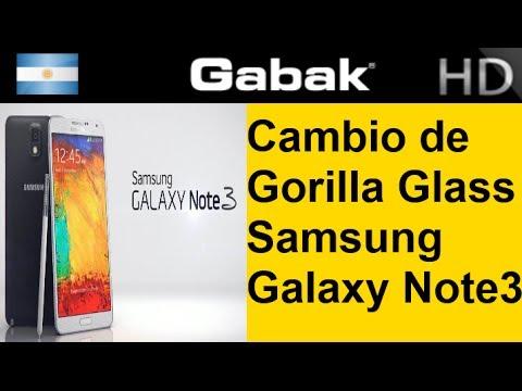 cambio de vidrio roto gorilla glass galaxy note 3