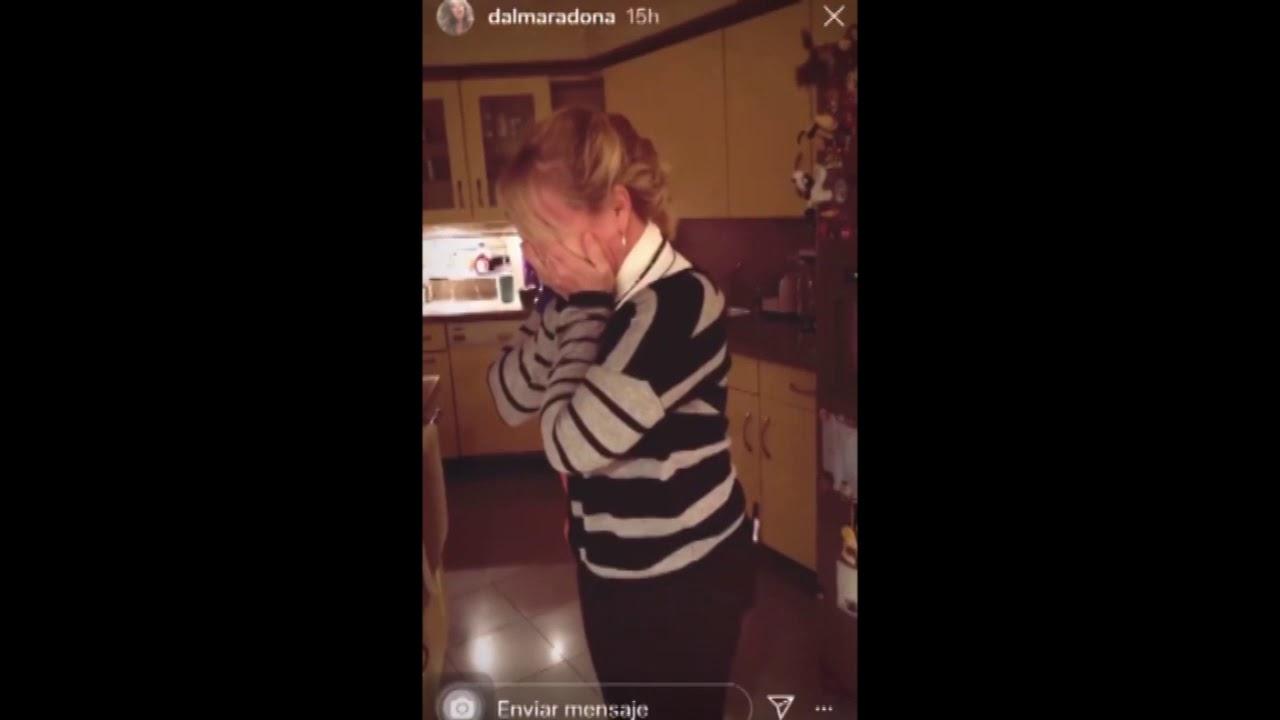 Dalma Maradona compartió un video del momento en que le anunciaba a Claudia que estaba embarazada