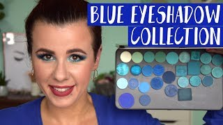 Blue Blood inspiration - my blue eyeshadow collection