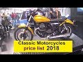 Classic motorcycles prices list 2018