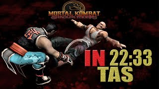 Mortal Kombat Shaolin Monks KUNG LAO | IN 22:33 (PS2)【TAS】