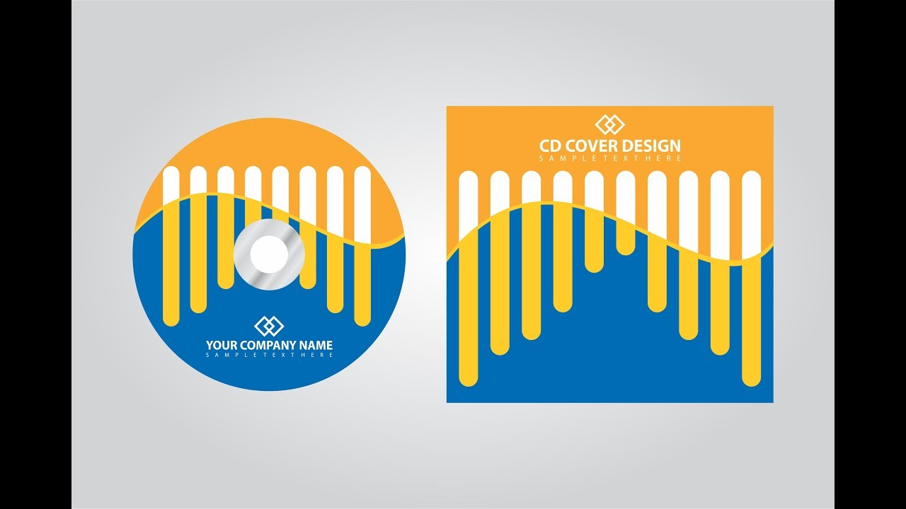 Corel Draw Book Cover Design Tutorial : How to make a cd cover design in corel draw youtube