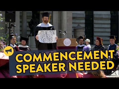 Commencement Speaker Needed