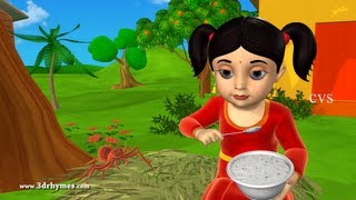 Little Miss Muffet - 3D Animation English Nursery Rhyme for Children with lyrics