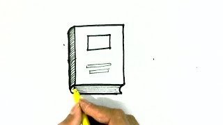 How to draw a Book- in easy steps for children. beginners