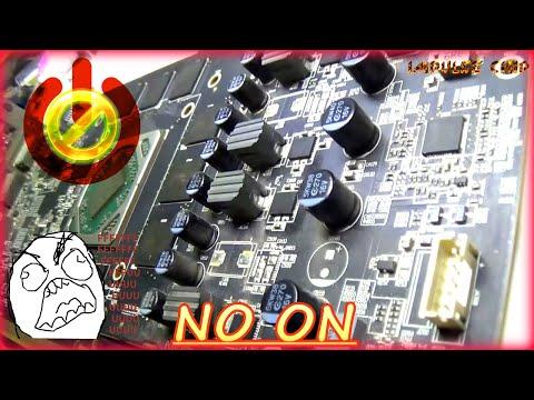 Ремонт видеокарты Sapphire Nitro+ RX470 Radeon. Не крутятся вентиляторы,❌ пост биоса не проходит