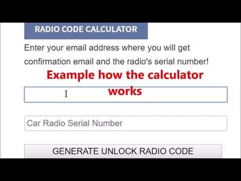 code to unlock ford radio