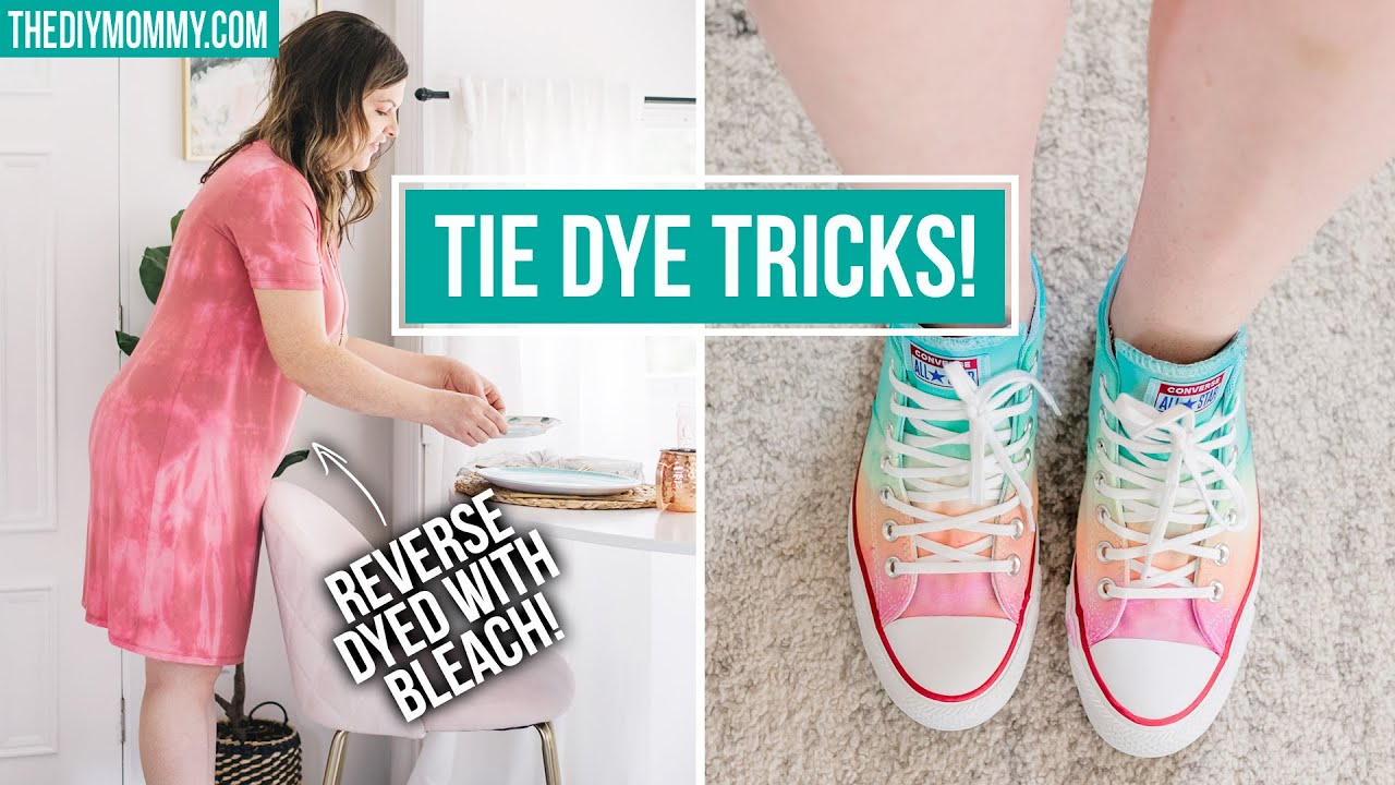 How to TIE DYE 🌈 3 Different Ways!