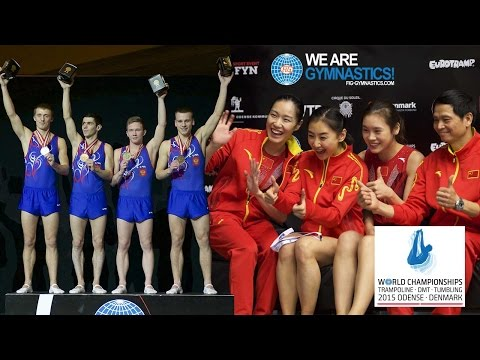 2015 Trampoline Worlds, Odense (DEN) - Highlights TRA Teams - We are Gymnastics !