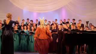 """"""" Каляда """" сценическое действие для хора и оркестра .ФИНАЛ .Хор """" Го-го-го , каза!"""""""
