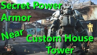 "Fallout 4 | Secret Power Armor Near ""Custom House Tower"" Location & Guide"