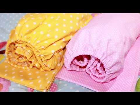 Как сшить простынь на резинке в детскую кроватку 120 60