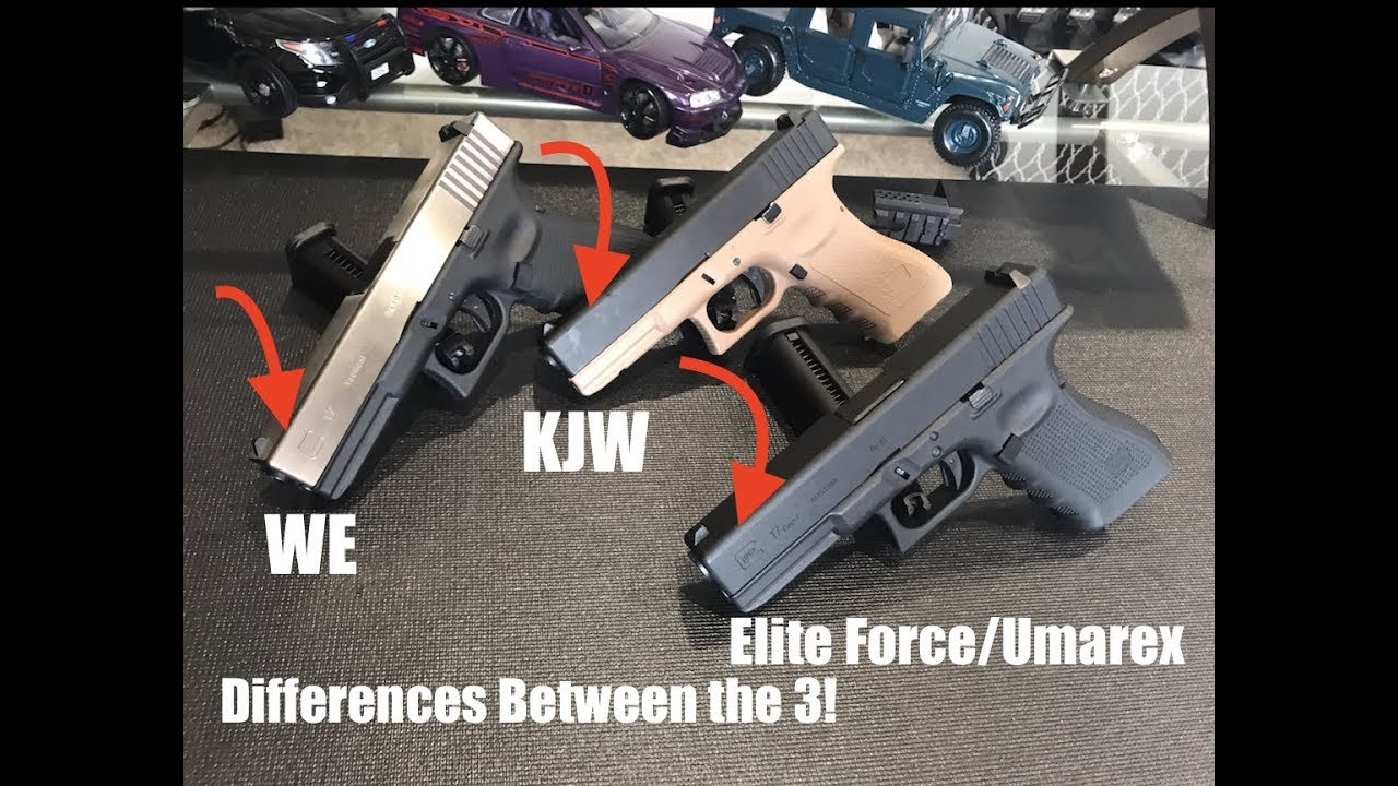Airsoft Glocks! KJW vs  WE vs  Elite Force/Umarex