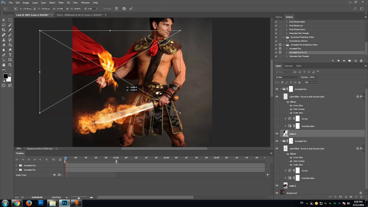 Create fire animation in Photoshop - tutorial