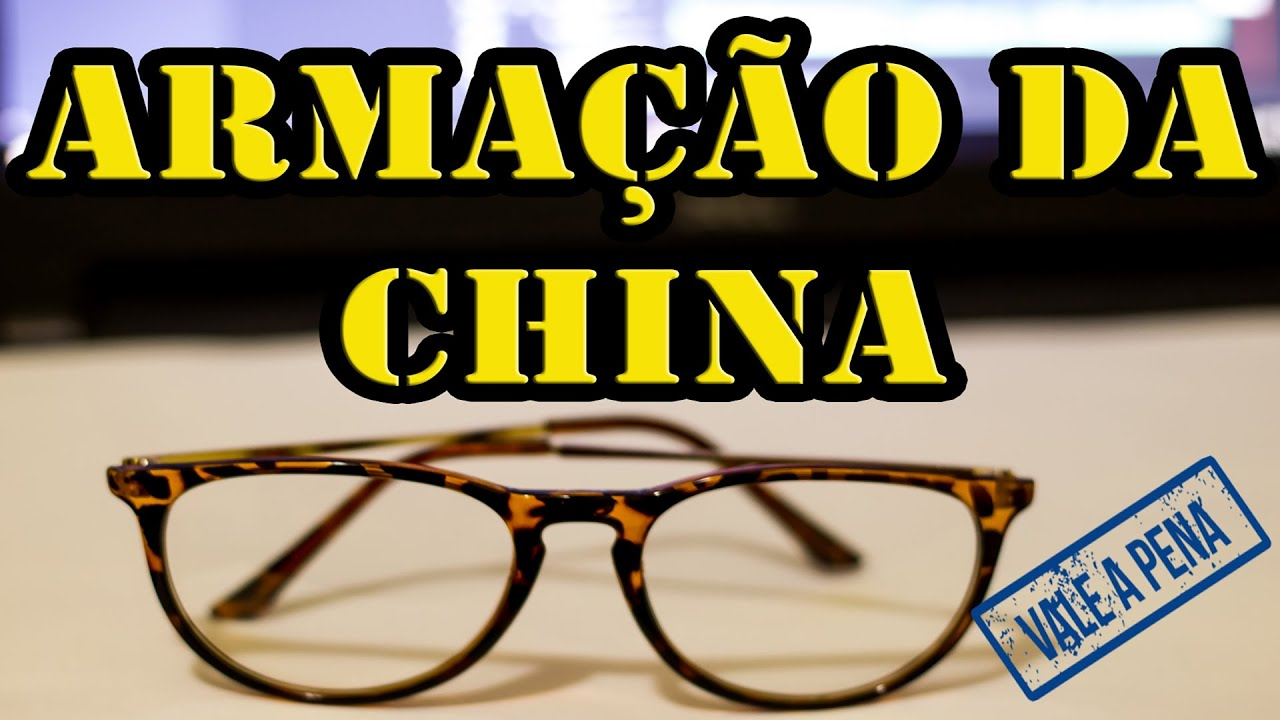 Armação óculos de grau Aliexpress - Direto da China - YouTube b1fa6fe2d1