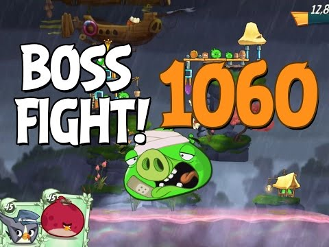 Angry Birds 2 Boss Fight 150! King Pig Level 1060 Walkthrough - iOS, Android