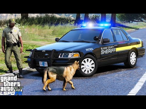 GTA 5 LSPDFR #504 | Blaine County Sheriff K9 | South Carolina Style | Dont Run Or The Dog Will Bite