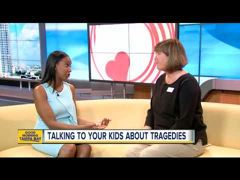 Crisis Center of Tampa Bay offers tips on how to take to kids about tragedies