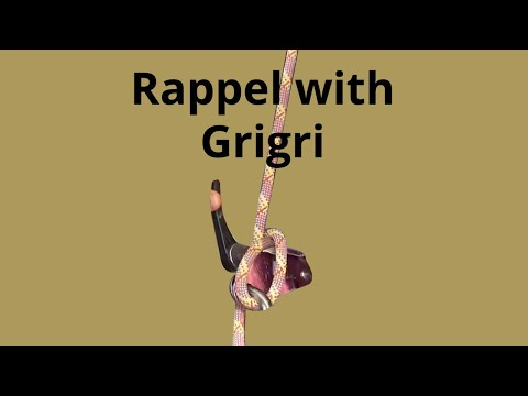 How I rappel with the Grigri - Extra friction trick !!!
