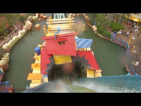 Dudley Do-Rights Ripsaw Falls On-ride Front (HD POV) Toon Lagoon IOA