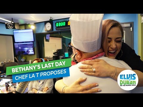 Chef La T Proposes to Bethany | Elvis Duran Exclusive