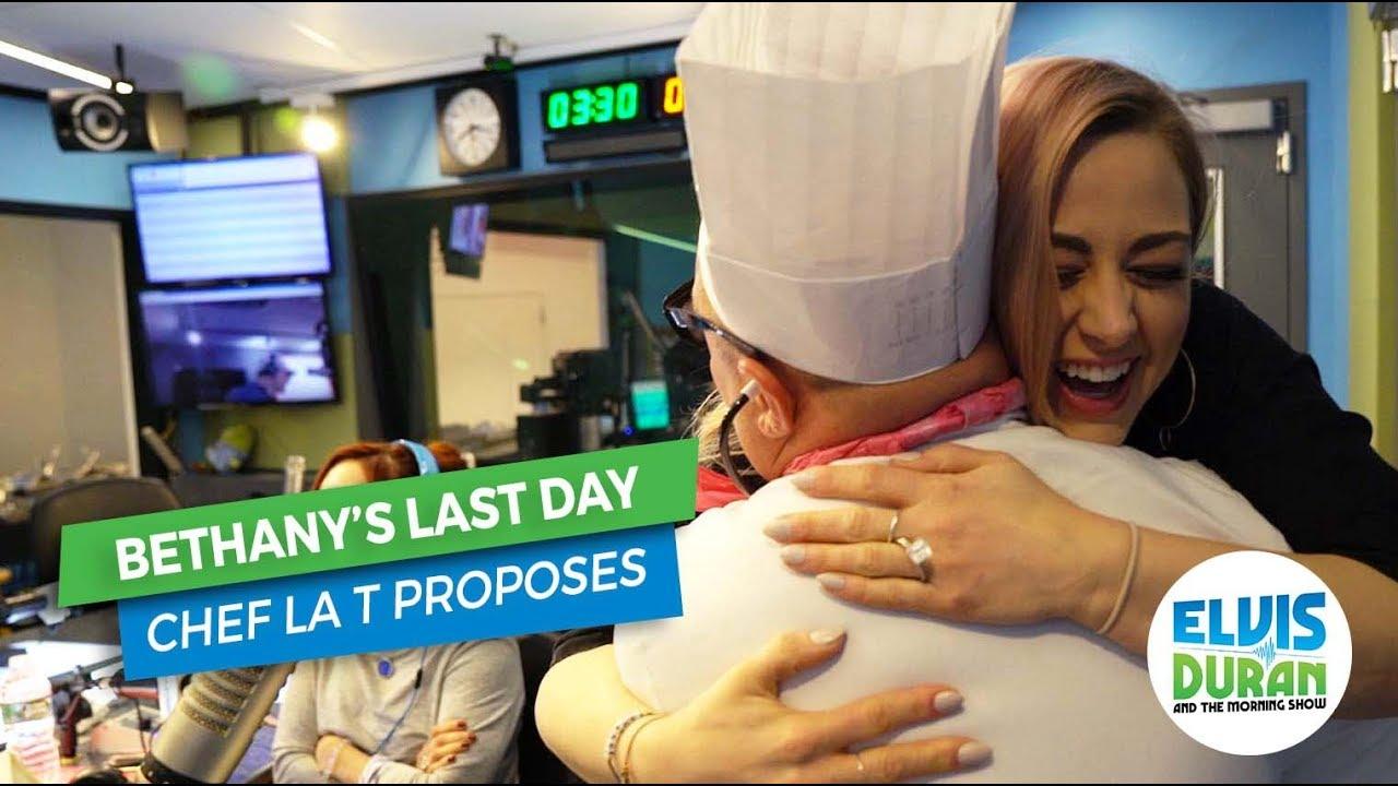Chef La T Proposes to Bethany   Elvis Duran Exclusive