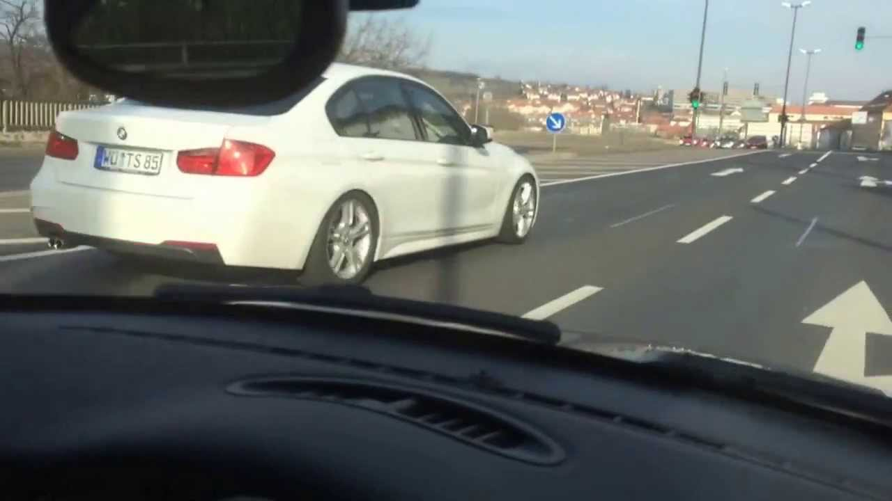 bmw f30 330d m sportpaket mit h r supersport federn youtube. Black Bedroom Furniture Sets. Home Design Ideas