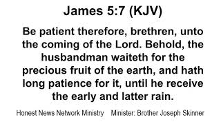 GOD IS NOT IN A HURRY: THE PATIENCE OF GOD OUR FATHER | BE YE ALSO PATIENT & ESTABLISH YOUR HEARTS