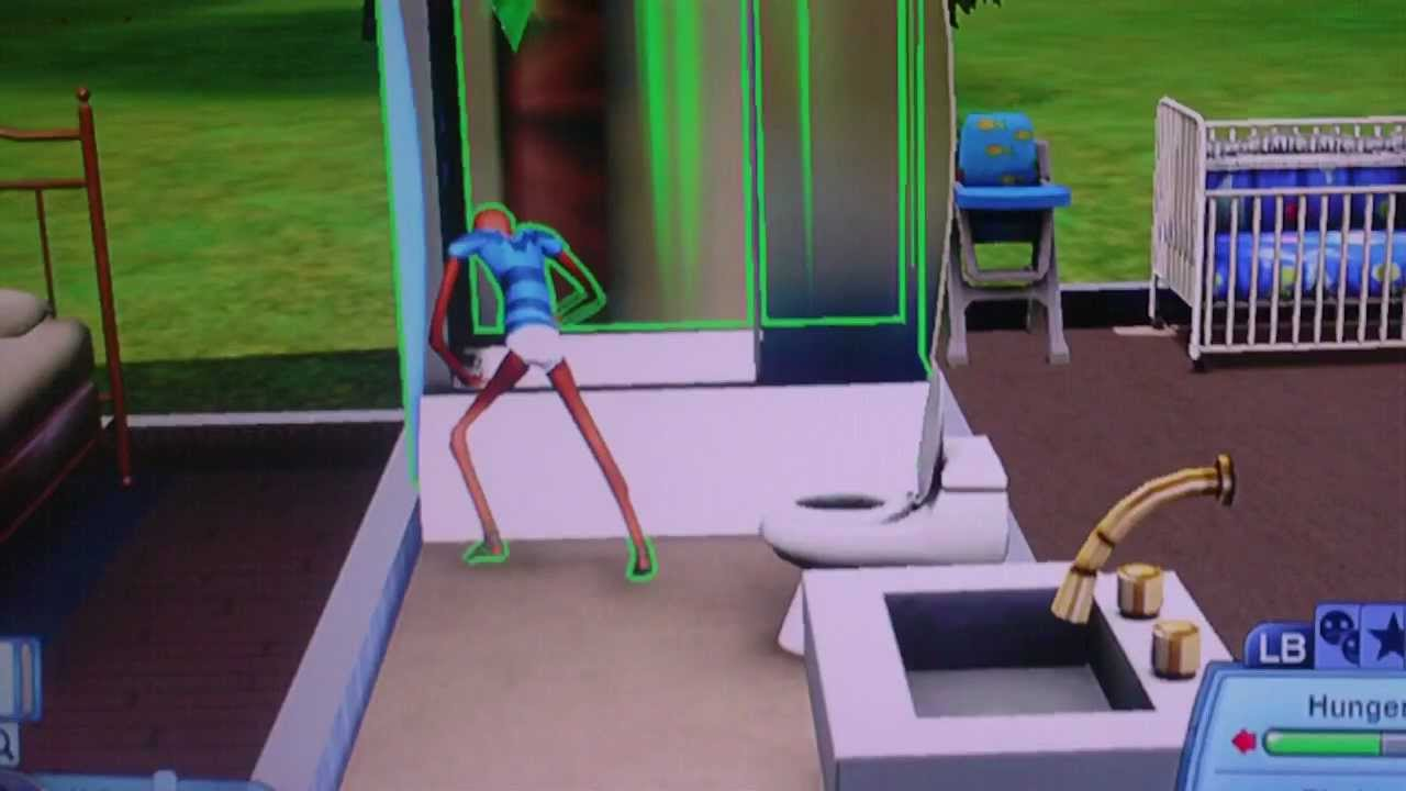 Sims 3 glitch toddler taking a bath youtube for Sims freeplay baby bathroom