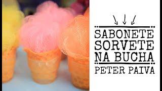 Sabonete Sorvete com Bucha Peter Paiva