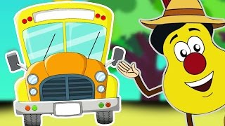 wheels on the bus go round and round   nursery rhymes   songs for children by guitar bob