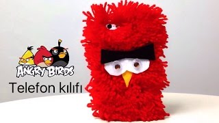 DIY - ANGRY BIRDS CEP TELEFON KILIFI - HOW TO MAKE ANGRY BIRDS PHONE CASE
