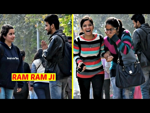 "Saying Cute Girls ""Ram Ram Ji"" Prank 