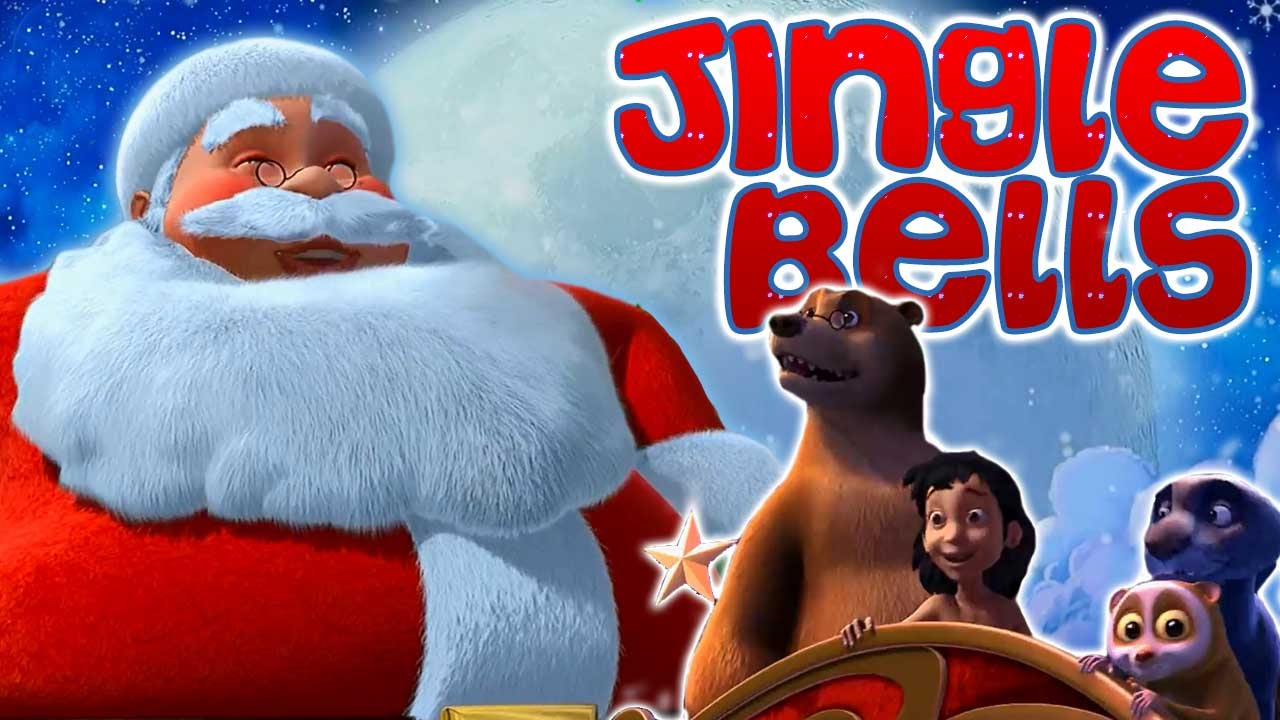Christmas Song Jingle Bells | Jungle Book | Merry Christmas 2015 | Animated Cartoon Show For Kids