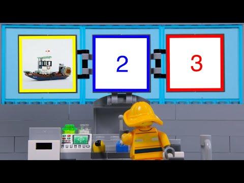 LEGO Experimental Vehicles Fishing Boat STOP MOTION LEGO Ship Shark Attack   LEGO   Billy Bricks