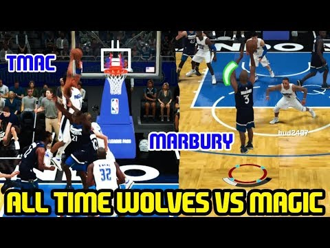 ALL TIME WOLVES VS MAGIC! MARBURY & KG VS BUD! NBA 2K18