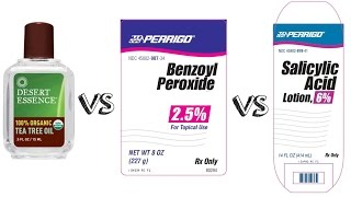 Best for Acne: Tea Tree Oil vs Benzoyl Peroxide vs Salicylic Acid. Part I.