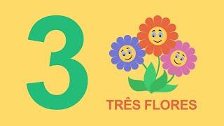Ensinando os números em português para crianças - Numero três