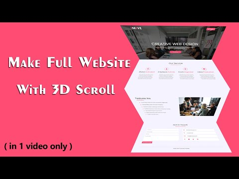 How To Make A Website Using HTML And CSS With 3D Effect Scrolling | Complete Website Design